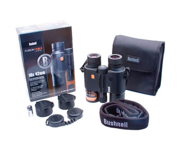 Комплект поставки бинокля с лазерным дальномером для охоты
