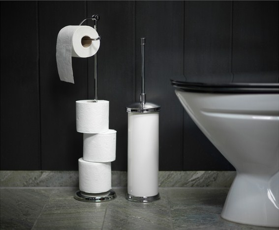 Стильный напольный держатель туалетной бумаги