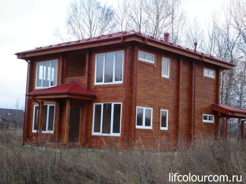 покрасить дом краской Osmo