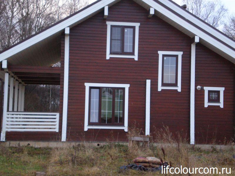 Покраска деревянных домов в Москве