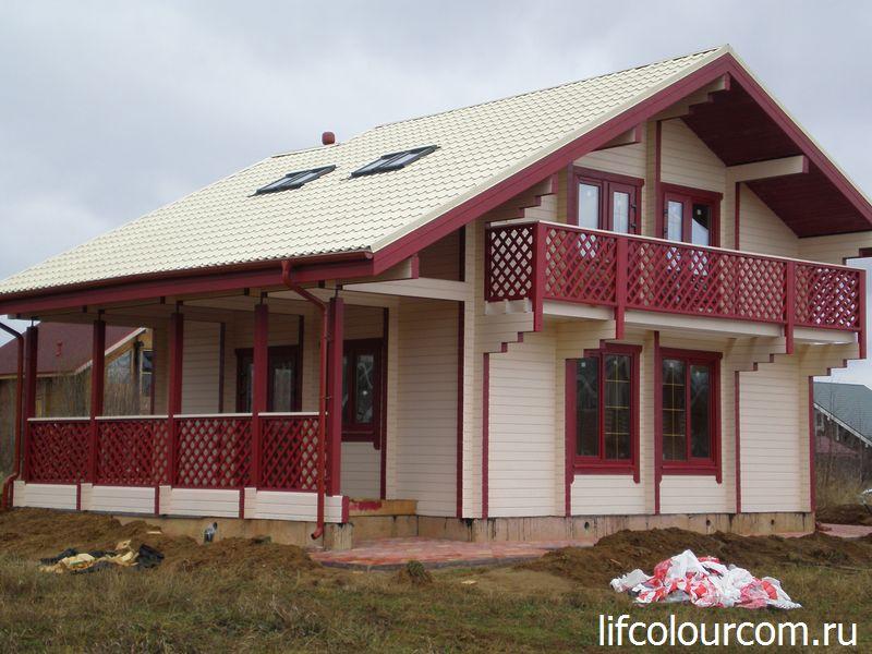 Комплексная покраска деревянного дома