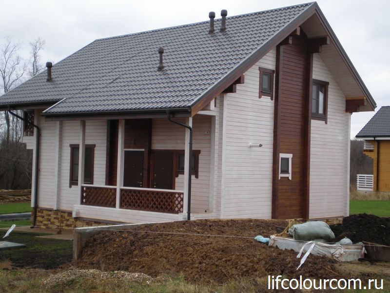 наружная покраска деревянного дома