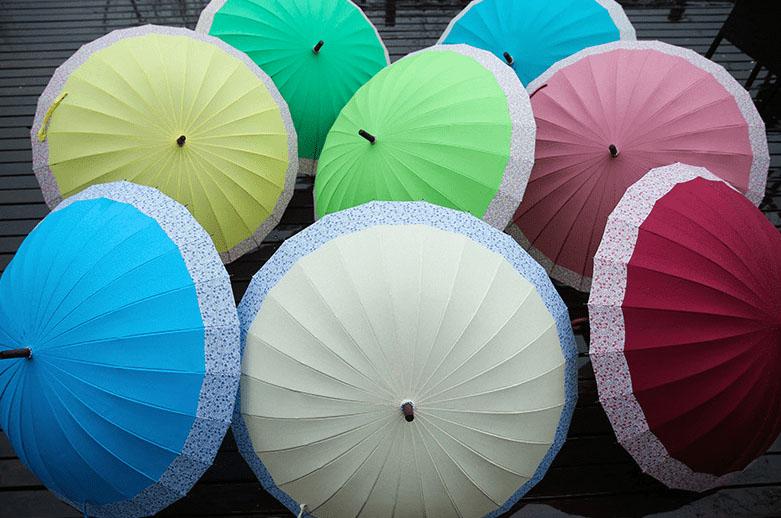 Дизайнерский зонт 24 спицы бежевый | ZC Easilyy