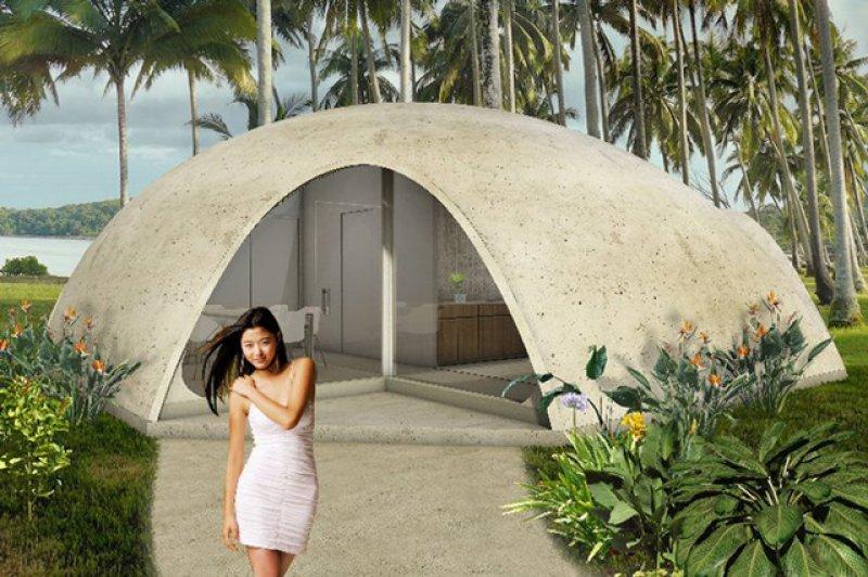 пенопластовый купол.