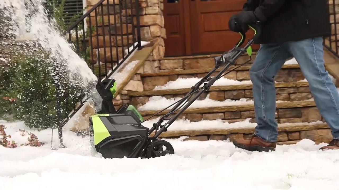 Электрические снегоуборщики Greenworks