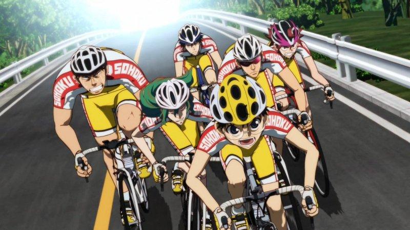 """Кадр японского мультфильма """"Трусливый велосипедист"""""""