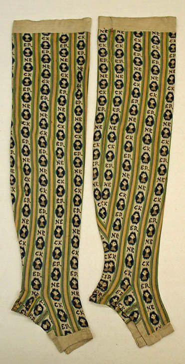 Шелковые носки Фрация 1788–93 годы | История носков
