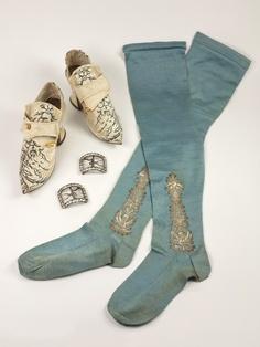 Английские носки и обувь середины 18 века | История чулочно-носочного происводства