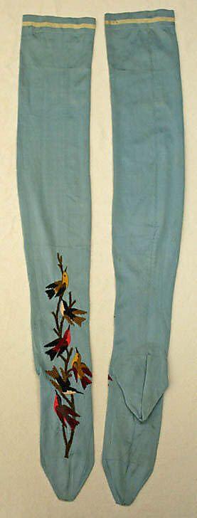 Французские шелковые носки 1885-89 годы