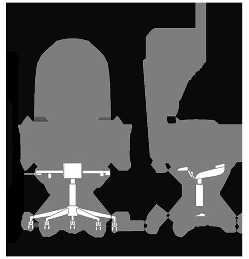 Габариты кресла KULIK SYSTEM BUSINESS