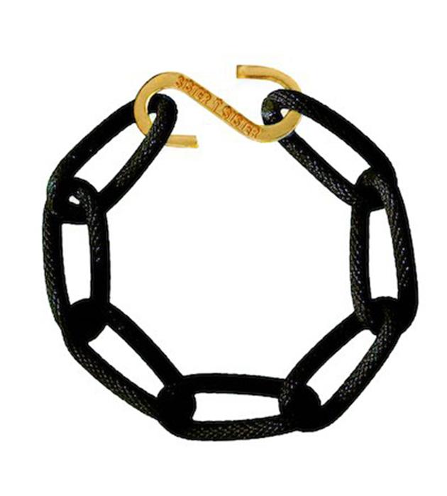 купите стильный чёрный браслет-цепь из алюминия Techno bracelet от Sister Sister Project