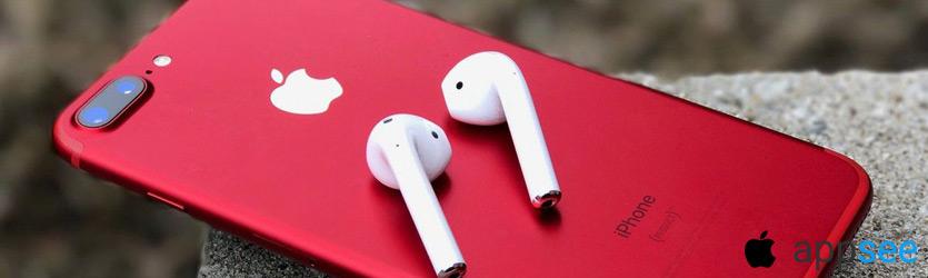 Айфон 7 Плюс красного цвета