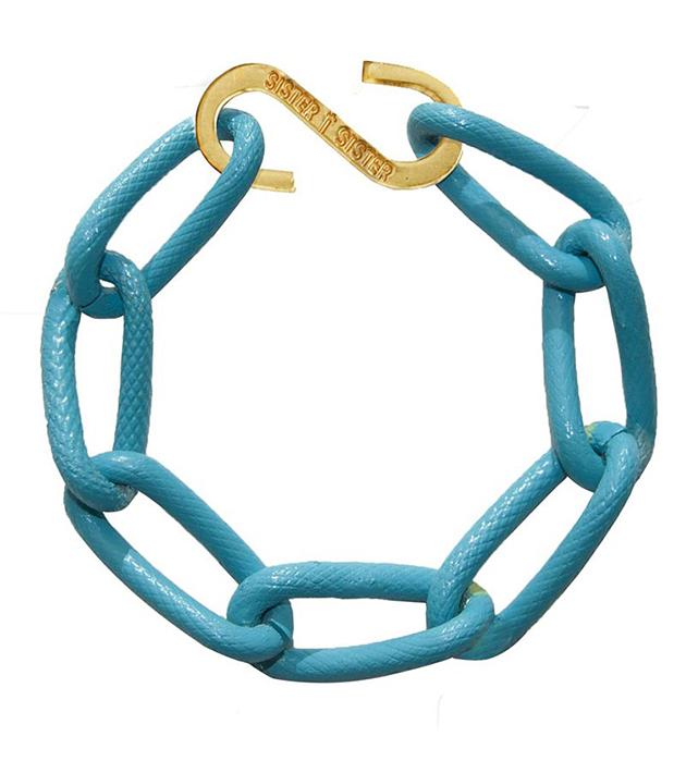купите браслет из алюминия ярко-голубого цвета от Sister Sister Project - Techno bracelet