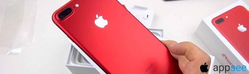 Айфон 7 плюс красный купить в Москве