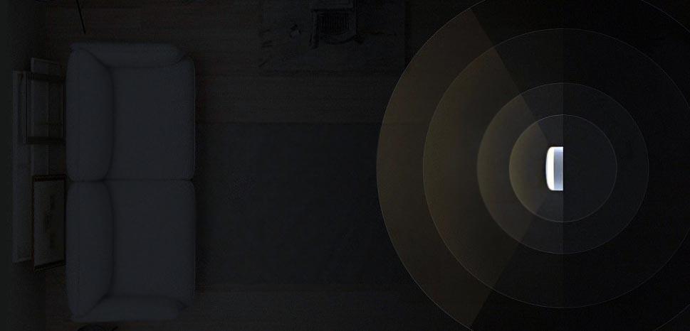 датчиком движения с диапазоном обнаружения движения до 120 градусов и 7 метров