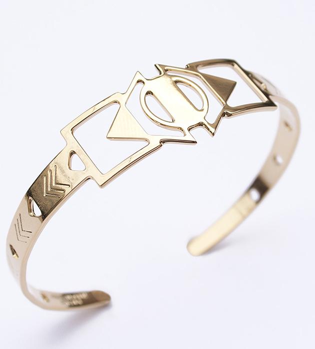 купите золотой браслет в этническом стиле Vega от Chic Alors-Paris