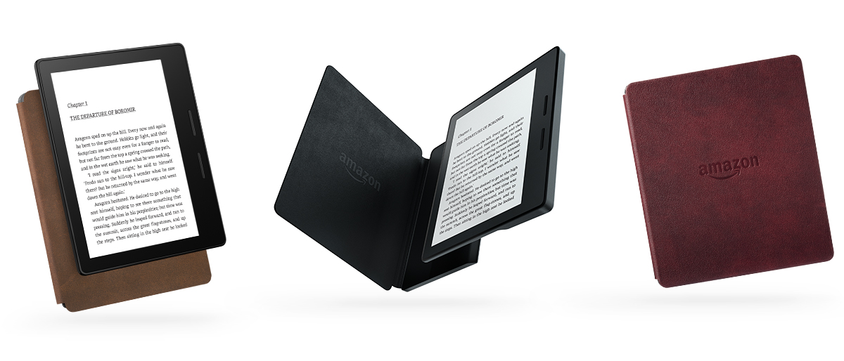 Электронная книга Amazon Kindle Oasis with Leather Charging Cover