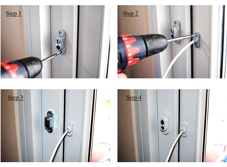 Инструкция по установке замка с тросомKidlock