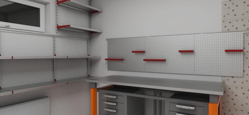 Система гаражного хранения для инвентаря