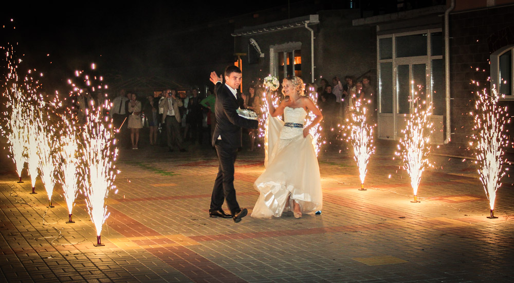 Фейерверки для свадьбы