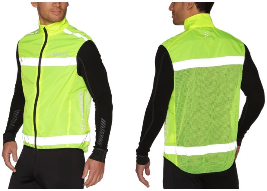 На фото – светоотражающий жилет из полиэстера Craft Visability Vest