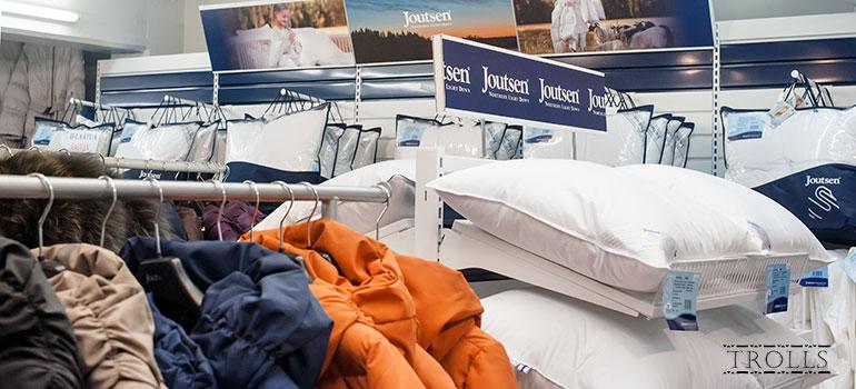 Пуховики и пуховые подушки Joutsen