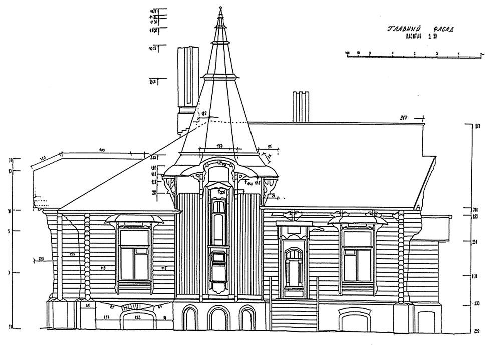 Главный фасад дома Лыжина.