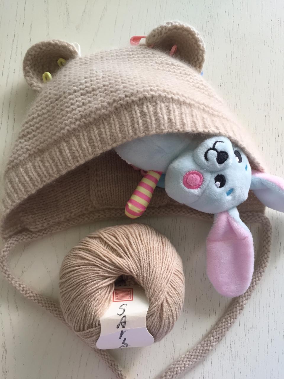 детская шапочка из кашемира