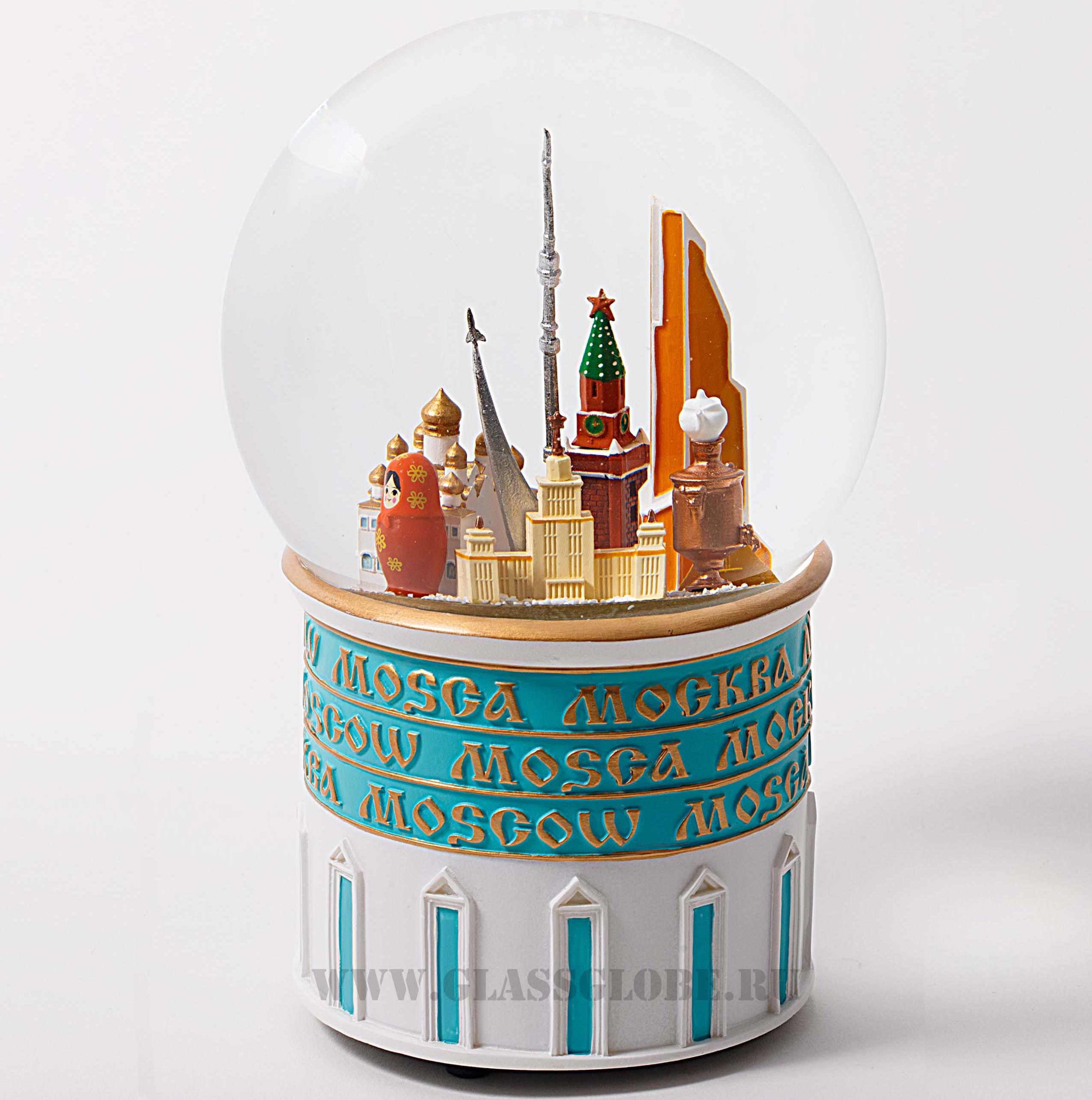 Стеклянный шар со снегом Москва