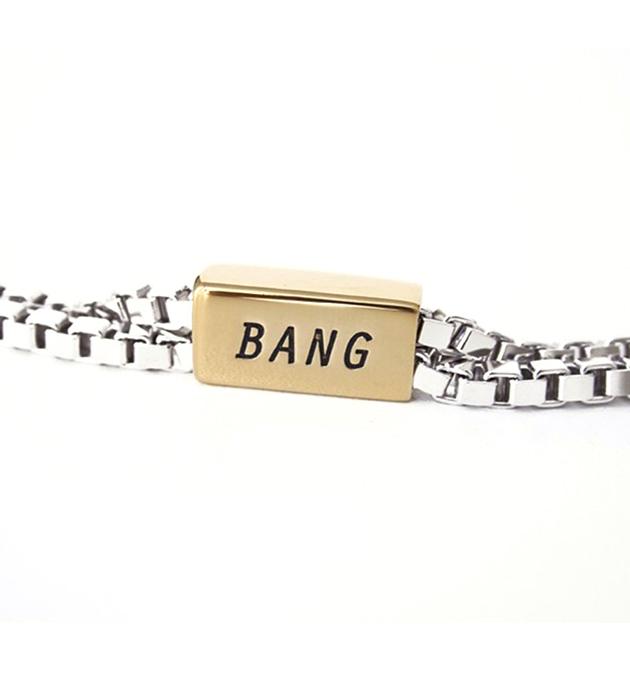 купите двухцветный браслет с надписью BANG от Chic Alors Paris