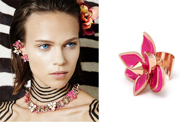 украшения в виде цветов, покрытые эмалью от Maria Francesca Pepe