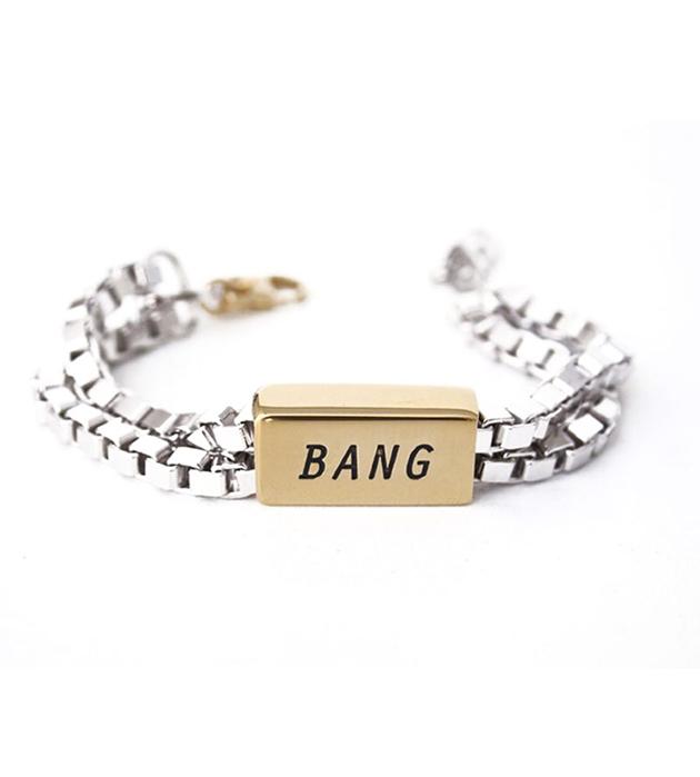 кэжуальный браслет с надписью BANG от Chic Alors-Paris