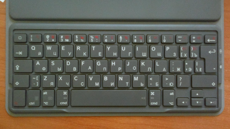 Logitech Solar Keyboard Folio русский шрифт