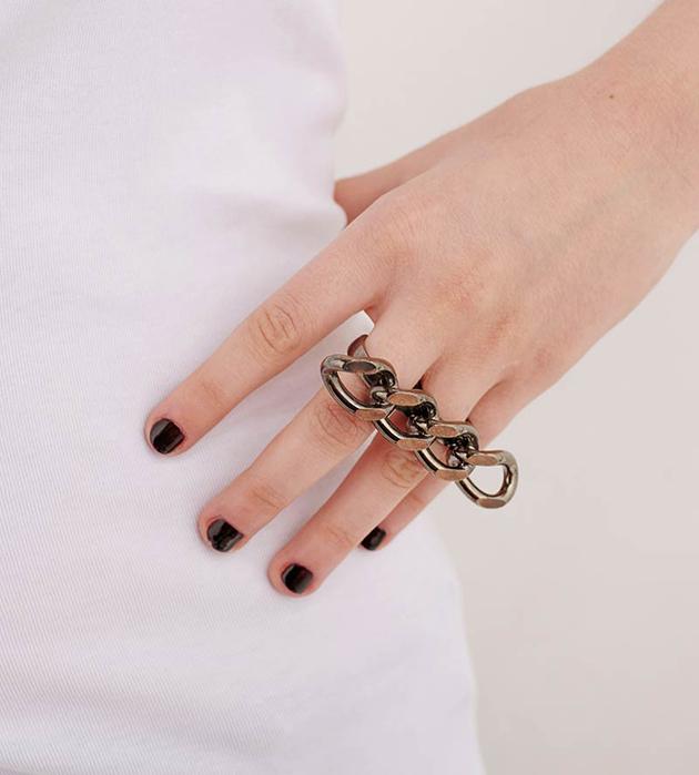 необычное двойное кольцо 3EE RING от Thomas.V