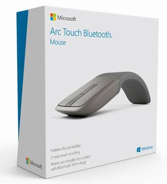 Беспроводная мышь Microsoft Arc Touch Bluetooth Mouse (PC, Microsoft Surface, Windows Tablets)