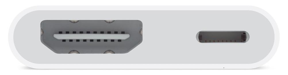 Оригинальный цифровой AV-адаптер Apple Lightning Digital AV Adapter MD826ZM/A передачи изображения с iPhone, iPad и iPod оснащенных разъёмом Lightning.