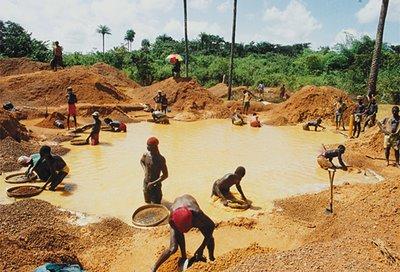 добыча гранатов в Африке