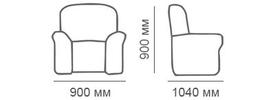 Габаритные размеры кресла Сиеста