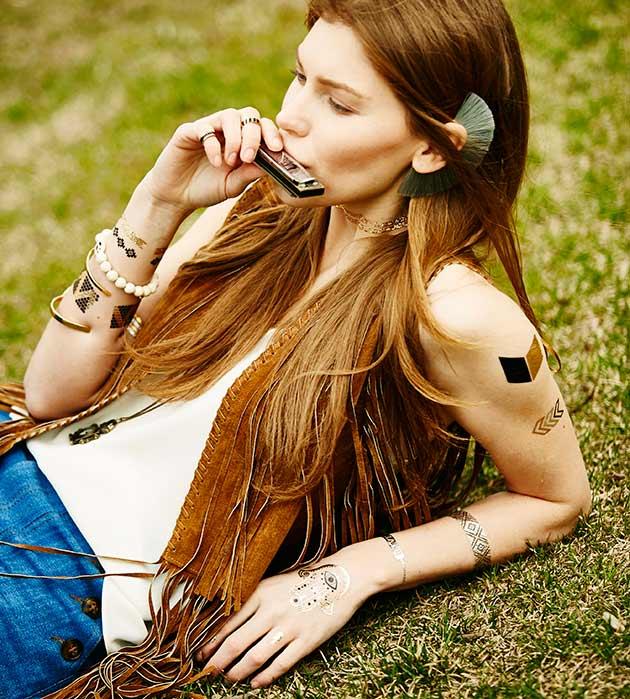 набор временных флэш-татуировок Rock You от Miami Tattoos