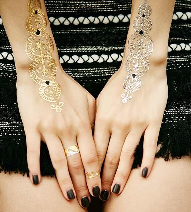 набор узорных флэш-татуировок Hands от Miami Tattoos