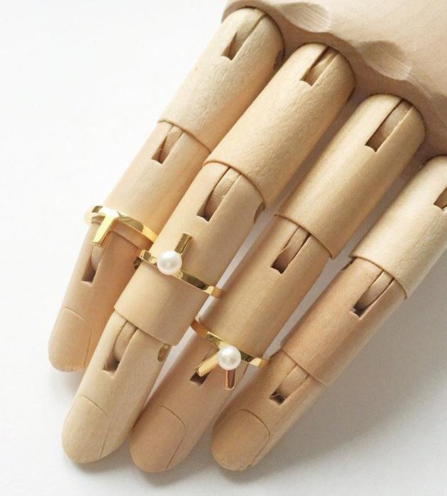 кольцо на фалангу Mini Vivian от английского бренда SMITH/GREY