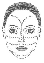 Подготовка лица к макияжу - массажные линии
