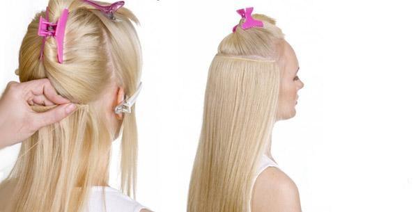 Наращивание волос трессовым методом