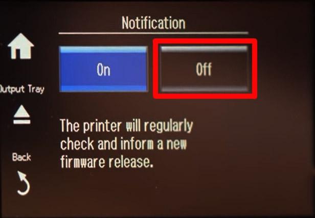 Epson отключение обновлений через панель управления