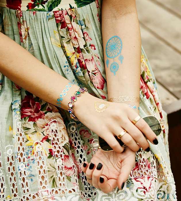 набор флэш-татуировок в стиле бохо-шик от Miami Tattoos - Bohemique