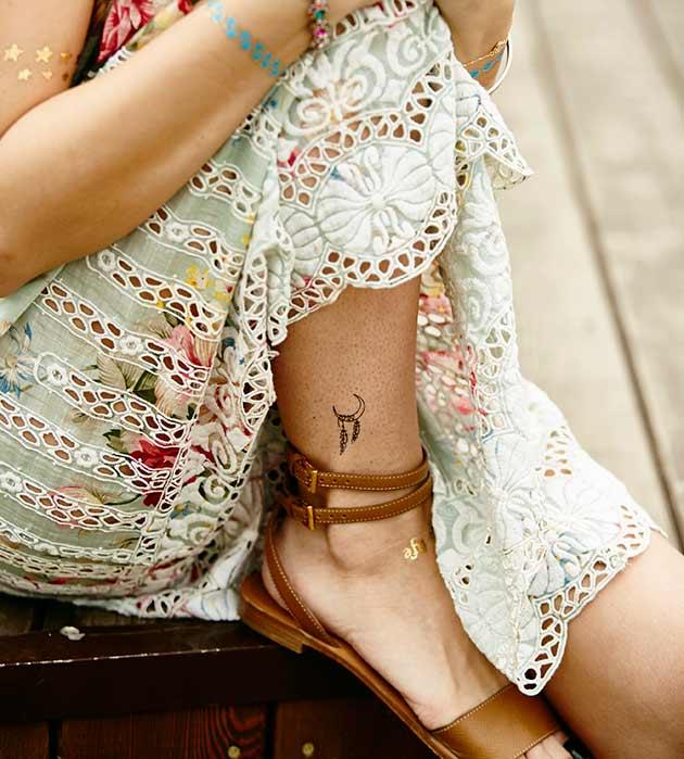 комплект изящных переводных татуировок от Miami Tattoos - Bohemique