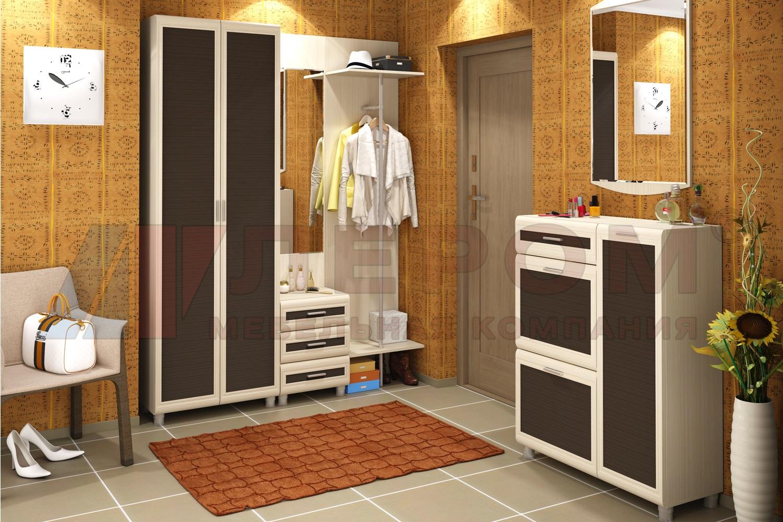 МЕЛИССА Мебель для прихожей в цвете Беленый Дуб - Комбинированный