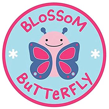 Купить детское махровое полотенце с капюшоном-уголком Бабочка