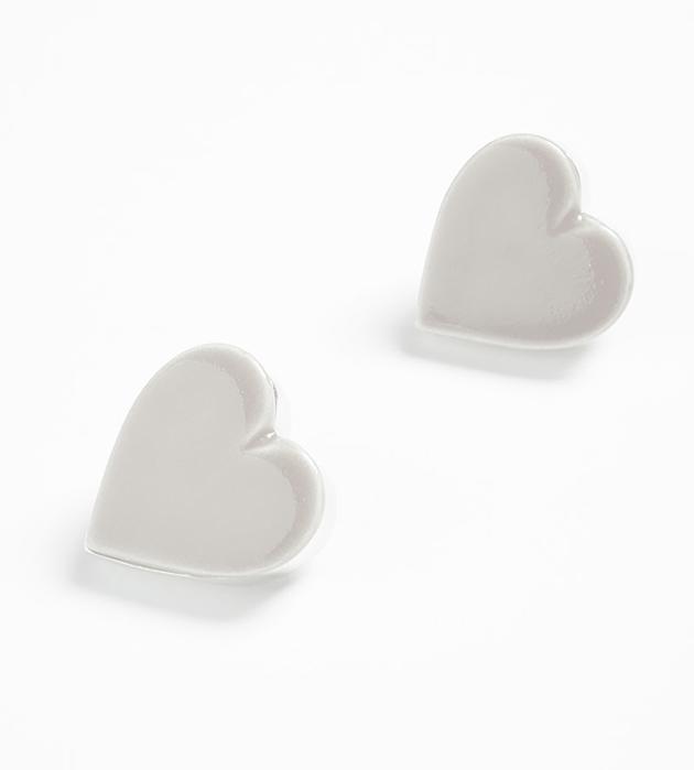 стильные серьги ручной работы от испанского бренда ANDRES GALLARDO - Heart White