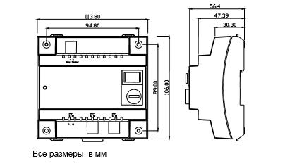 Размеры трансформатора Siemens SEM62.2